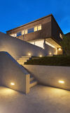 Modernes Design der Architektur, Haus, im Freien lizenzfreie stockfotografie