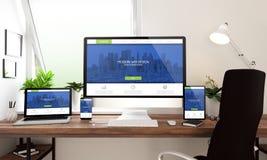 modernes Design der Fensterbürotischplattengeräte Lizenzfreies Stockfoto