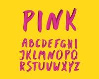 Modernes Design des Alphabetes Handbürstenguß, Art beschriftend Englische Buchstaben Schriftbildclipart, Vektorillustration Hand vektor abbildung