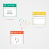 Modernes Design infographic auf grauem Hintergrund Stockfoto