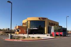 Modernes Design von einer Bank in Gilbert Arizona stockbild