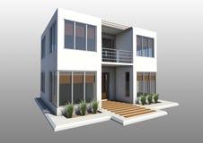 Modernes doppeltes Geschichtehaus