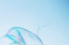 Modernes einfaches abstraktes Design des Nahaufnahmeseifenblase-Hintergrundes mit copyspace Stockfotografie