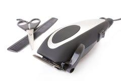 Modernes elektrisches Haar/Barttrimmer stockfotos