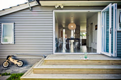 Modernes Entwerfer-Haus stockbild
