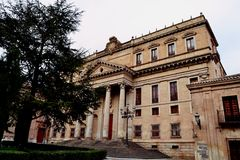Modernes errichtendes Salamanca Spanien Lizenzfreies Stockfoto