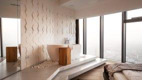 Modernes exaple des schönen apartament im Hotel lizenzfreie stockfotos