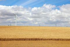 Modernes Feld mit Leistunggeneratoren. Lizenzfreies Stockfoto