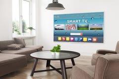 modernes Fernsehintelligentes Fernsehen lizenzfreie abbildung
