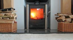 Modernes Feuer Stockfoto