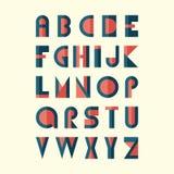 Modernes flaches Alphabet Stockbilder