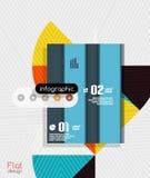 Modernes flaches Design der geometrischen infographic Streifen stock abbildung