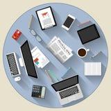 Modernes flaches Designbrainstorming- und -teamwork-Konzept Stockfotografie