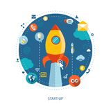Modernes flaches Designgeschäft infographics Lizenzfreies Stockfoto