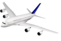 Modernes Flugzeug auf Weiß. lizenzfreies stockbild