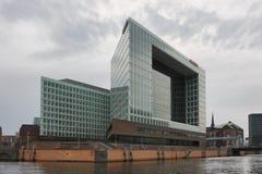 Modernes Gebäude der deutschen Zeitschrift und des Verlags Der Spiegel in Hafencity-Bezirk von Hamburg Lizenzfreies Stockbild