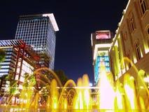 Modernes Gebäude in der Nacht Stockfotografie