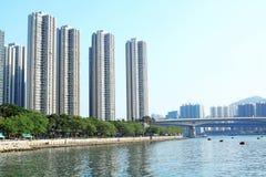 Modernes Gebäude Hongs Kong Stockfotos