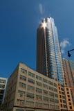 Modernes Gebäude in im Stadtzentrum gelegenem Brooklyn. Lizenzfreie Stockfotos