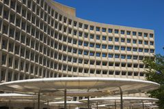 Modernes Gebäude im Washington DC Stockfoto