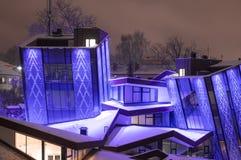 Modernes Gebäude an Rezekne-Stadt stockfotografie
