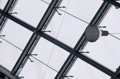 Modernes Gebäude- und Fensterfeld Stockfotos