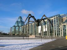 Modernes Gebäude und Spinne in Ottawa stockbilder