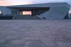 Modernes Gebäude und sunglow Stockbild