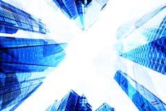 Modernes Gebäudegeschäft, zum von Himmelansicht zu übersteigen Lizenzfreie Stockfotografie