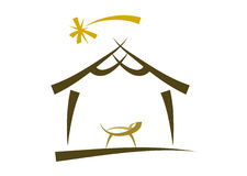 Modernes Geburt Christisymbol/-ikone Stockfotos