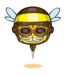 Modernes Gelb, das glückliches Lächeln lacht Auch im corel abgehobenen Betrag Lizenzfreies Stockbild