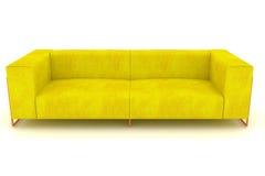 Modernes gelbes Sofa Lizenzfreie Stockfotos