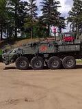 Modernes gepanzertes Fahrzeug stockbild