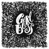 Modernes Geschäftskonzept des Mädchen-Chefs von unabhängigen Frauen Watercol Stockfotografie