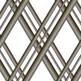 Modernes Gitter des Vektors von gekreuzten Stangen Hintergrund für Standorte stockbild