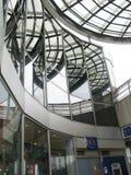 Modernes Glas und Stahl Stockbild