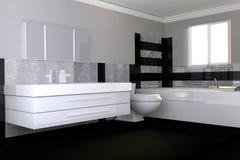 Modernes glattes Badezimmer Stockbild