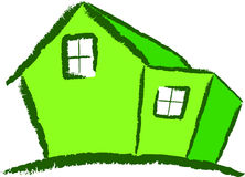 Modernes grünes Haus Lizenzfreie Stockfotografie