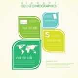 Modernes grünes infographic Design Vektor Lizenzfreie Stockbilder