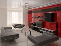 Modernes helles Wohnzimmer Stockfoto