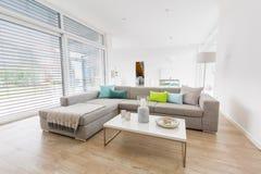 Modernes helles Wohnzimmer lizenzfreie stockbilder