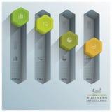Modernes Hexagon-Diagramm-Geschäft Infographic Lizenzfreies Stockbild