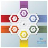 Modernes Hexagon-Geschäft Infographic Stockfotos