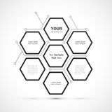 Modernes Hexagonwebdesign Stockbild