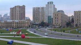 Modernes im Januar glättendes Baku azerbaijan stock video footage