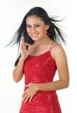 Modernes indisches Mädchensagen ausgezeichnet stockfotografie