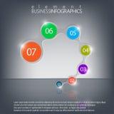 Modernes infographic Element auf dunklem Hintergrund Stockbild
