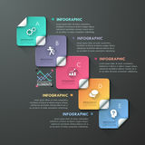 Modernes Infographic nummeriert Schablone stock abbildung