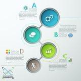Modernes Infographic nummeriert Schablone lizenzfreie abbildung