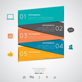 Modernes infographics lizenzfreie abbildung